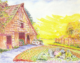 painting of Summer Run Farm